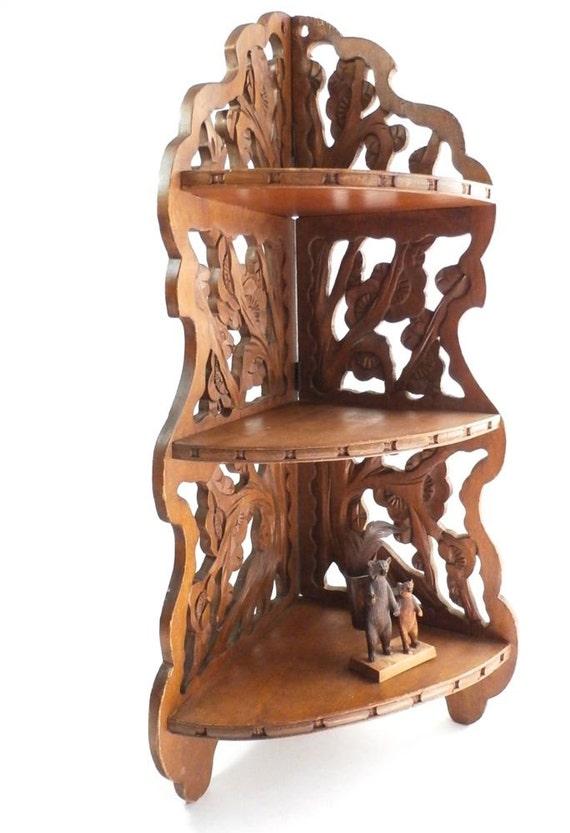 vintage corner shelf free standing shelf by dairyfarmantiques. Black Bedroom Furniture Sets. Home Design Ideas