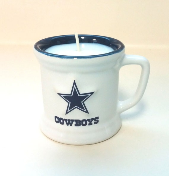 Dallas Cowboys Candle White Mini Mug Soy Candle CHOICE OF