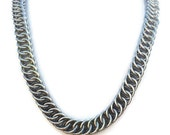 Large Stainless Steel Unisex  Half Persian Necklace- Ready to Ship