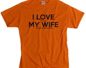Bowhunting gift for husband funny t-shirt I LOVE it when MY Wife® Brand gift for bow hunter hunting tshirt for hunter gift