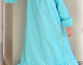 Made to Order CUSTOM Girls Cotton Flannel Old Fashioned Long Sleeved Nightgown. Choose Your Fabric, Available in Sizes 5/6, 7/8