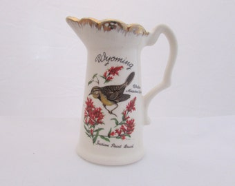 Wyoming Collectable Souvenir Pitcher