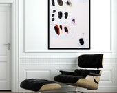 Print of large abstract painting, 28X40, Abstract Art, Blue, black, Pink, Geometric art giclee print by AF Duealberi