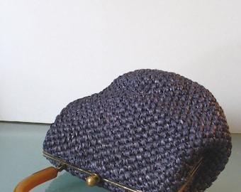 Vintage Raffia Morris Moskowitz Handbag