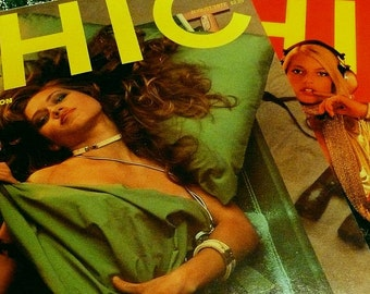 Two Vintage 1970s Chic Dirty Mens Magazines Smut Cute Pin Up Vintage Gift Novelty