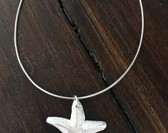 Handcrafted Fine Silver (.999) Starfish Pendant - Elegant and Beautiful!