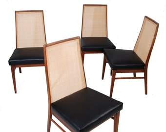 Set of 4 Mid Century Modern Dining Chairs By Kipp Stewart for Glenn of California