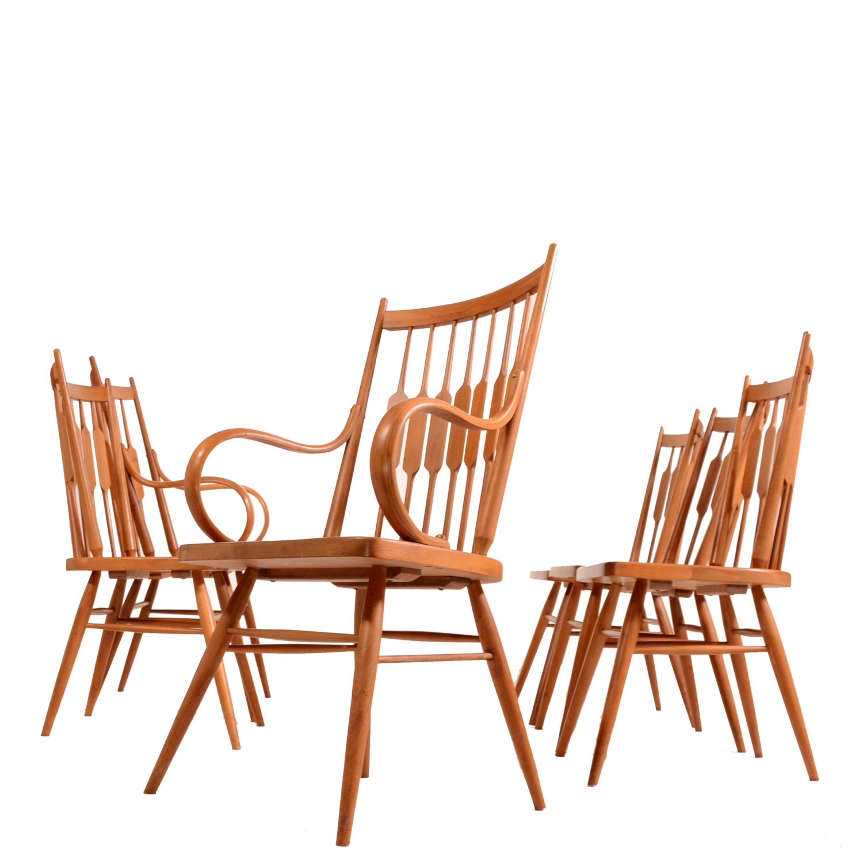 set of 6 drexel declaration dining chairs by kipp by motleyla