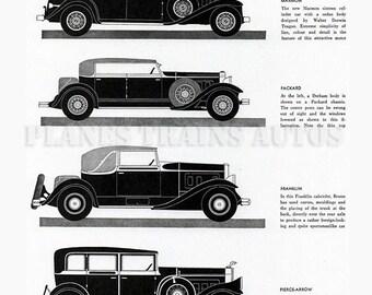 Vintage Auto Advert 1931 Vanity Fair. New York Salon. 1930s automobile advert. Instant Download.