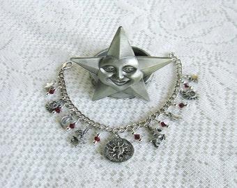 Capricorn Charm Bracelet Zodiac Bracelet Horoscope Birthday Gift