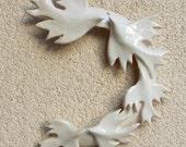 Indoor Wreath White Winter   Wreath . Easter Decor.   Wedding decoration. Wedding Favor.  Love birds . White bird flock.