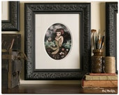 Salty Tears and Shipwrecks - Custom Framed Limited Edition Fine Art Print - Inspired by The Little Mermaid, Sirens, and Dark Fairytales