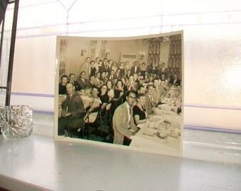 Vintage Photograph 1950s Banquet 10 x 8