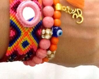 SALE--------GYPSY  LOVE bracelet - bohemian friendship bracelet - amulet bracelet - gypsy bracelet -Bollywood bracelet