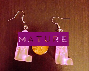 PINK Rubber Penis Earrings - Bachelorette gift