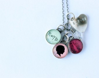My Child Throughout the Years 12mm Necklace with Birthstone and Birth Date