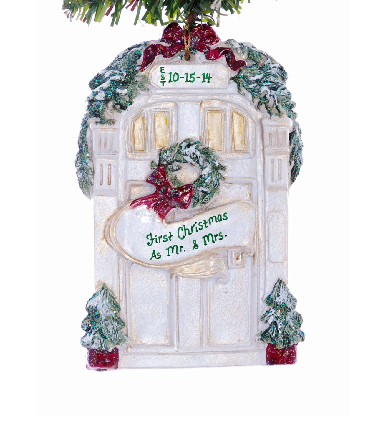 Christmas Ornament Personalized front door by Christmaskeeper