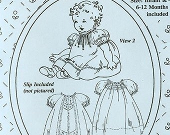 Baby Rose Raglan Dresses Pattern by The Old Fashioned Baby