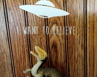 I want to believe UFO-  wall - car or laptop vinyl decal aliens sticker - sci fi - geeky decal