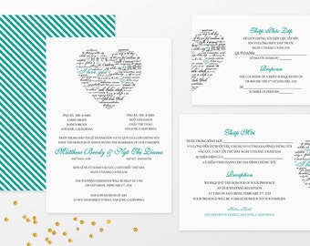 wedding invitations bilingual invitations by invitationsbytiffany, Wedding invitations
