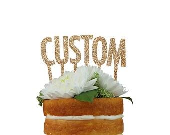Customizable Letter Cake Topper