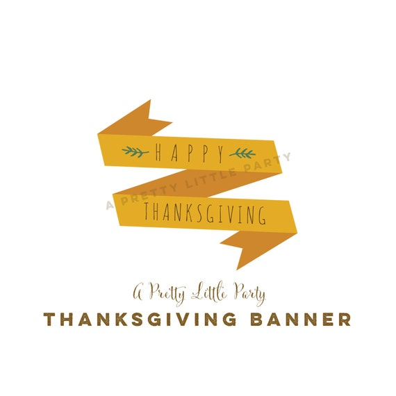 Thanksgiving Pie Banners - Cake Banners - Thankful Banner - INSTANT DOWNLOAD