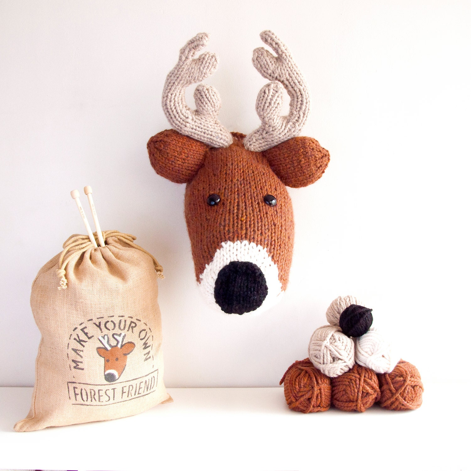 Faux Deer Knitting Kit Make Your Own Forest Friend DIY