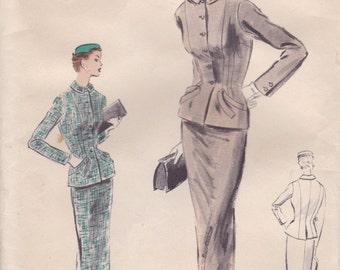 Classy 1950s Suit Pattern Vogue Special Design S-4399 Size 14