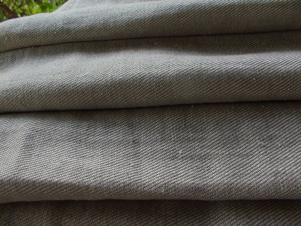 Taupe color linen rustic look thick fabrichigh by linengifts for What is taupe color look like