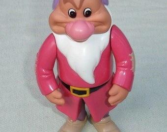 """Vintage Disney  """"Grumpy"""" Toy from Snow White and the Seven Dwarfs"""