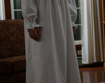 Womens' Sweet & Simple Cotton or Flannel Nightgown, MADE TO MEASURE