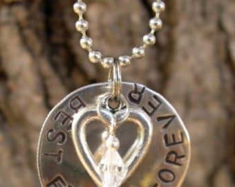 Jewelry, Necklaces, Monogram & Name, Hand Stamped Metal, Stamped Metal - N58