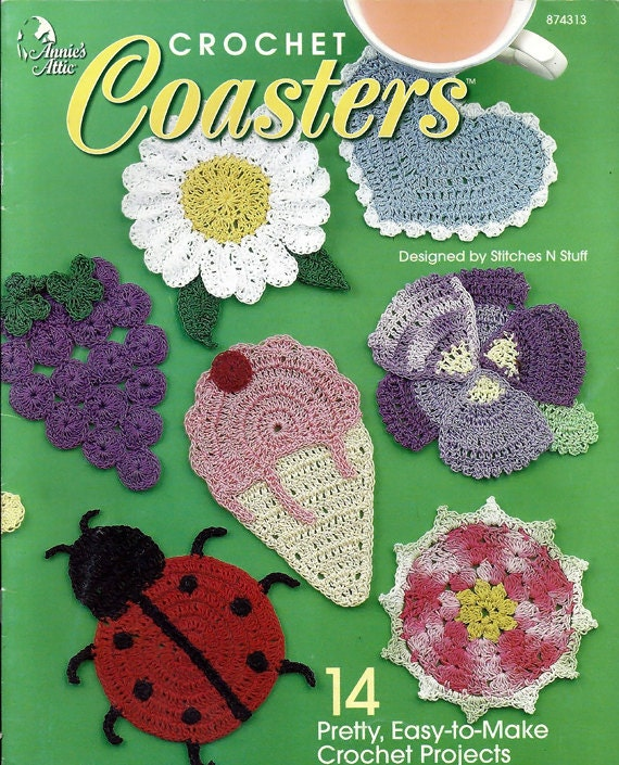 Coasters Crochet Pattern Book Annies Attic 874313