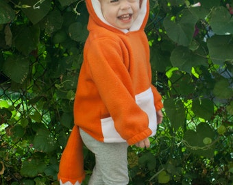 BABY & TODDLER Fox Hoodie, Costume, Vest, Jacket, Hand-made, Cosplay