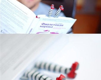 Wicked witch bookmark. inspired by Wizard of OZ. Book marker in ruby red slippers.