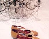 1930s shoes // Marlene Dietrich // Chic Parisian // 30s leather shoes // Art Deco // 30s