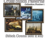 Fantasy Castle Cross Stitch Patterns: Collection Number 1 Mythical Art Cross Stitch Designs Castle Medieval Dark Stronghold Fortress Graph