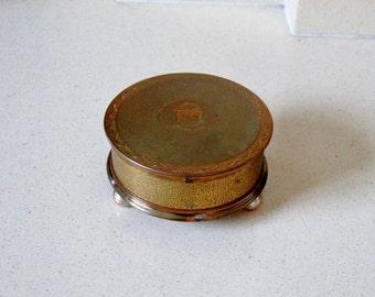 P&O Shipping Line Souvenir Mirror Compact Powder Puff Accessories Cunard