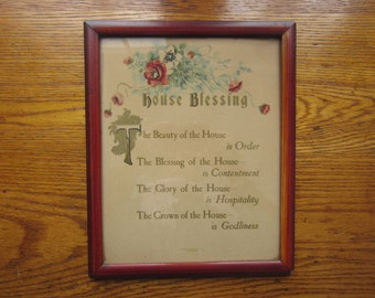 House Blessing by Lyman Studio Inc. Chicago ~ Framed House Blessing