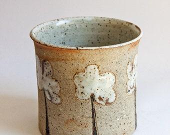 Danish Studio Pottery by  Aino Grib - A Jar, Vase or Jardinière with Tree Motif