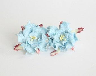 Items similar to Rhinestone Dk Teal Blue Gardenia Flower ...