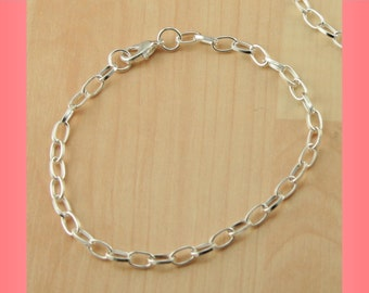 Adjustable Silver Chain Bracelet, Silver Bracelet,  up to approx 8 inch Adjustable Chain Bracelet  - Adjusts to any size. Select your qty.