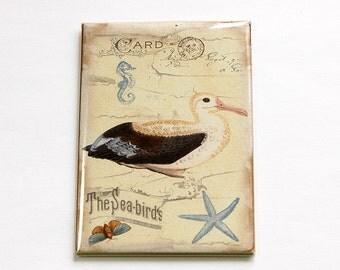 Sea Birds, Beach Magnet, ACEO, Kitchen magnet, Fridge magnet, Magnet, Seagull, Nautical, Nature, Beach wedding favor (4710)