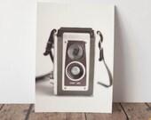 Fine Art Print Postcard 4x6 Vintage Camera White Background Dreamy Photography Glossy print