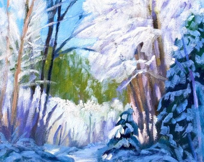 Canvas Print  Winter Wonderland Framed 20x16 inches Sherri McDowell Artist