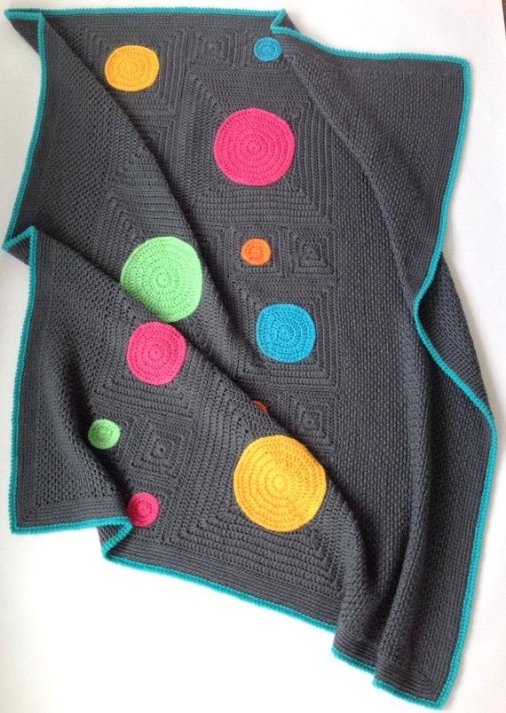 Squircles Modern Crochet Blanket Pattern