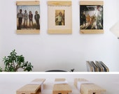 LP Frames to turn your albums into art - set of 3 - salvaged wood modular record vinyl 12 inch music lover gift