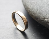 Gold Wedding Band, 9ct Yellow Gold Wedding Ring, 4mm Wedding Band For Women Or Men, Unisex, Shiny Finish, Custom Size