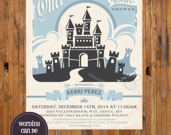 Once  Upon a Time baby shower invitation - Disney Fairy Tales baby shower invitation - Item 0210