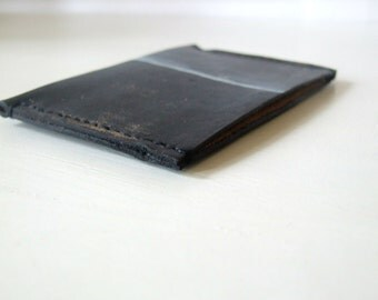 Leather Card Holder,  Oyster Card Holder, Travel Card Holder, Man Leather Wallet, Handmade in UK, Minimalist Horizontal Wallet